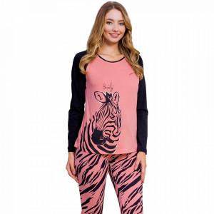 Pijamale Dama Vienetta Dream Model 'Beauty Zebra' Pink