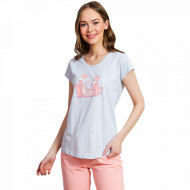 Pijamale Dama Vienetta 'Sweet Princess Cats' Pink