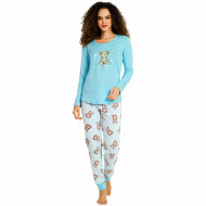 Pijamale Dama Vienetta, 'Sweety Love' Blue