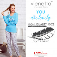 Pijamale Dama Vienetta, 'You Are Lovely' Blue