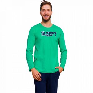Pijamale din Bumbac Barbati Gazzaz by Vienetta 'Sleepy'