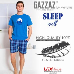 Pijamle Barbati Gazzaz by Vienetta, 'Sleep Weel' Blue