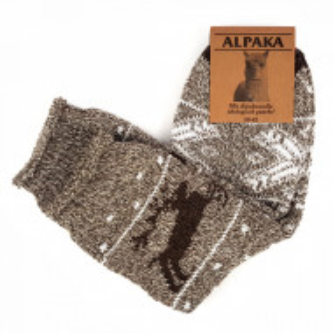 Sosete Calduroase din Lana de Oaie Naturala si Alpaka 'Wild Tradition' Brown