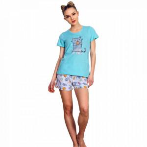 Pijama Dama Vienetta, Bumbac 100%, 'Macarons Delicious'