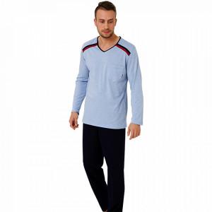 Pijamale Barbati, Bumbac 100%, 'Aquarium', M-Max