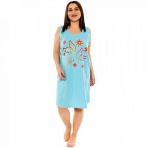 Camasa de Noapte din Bumbac Marimi Mari Vienetta Model 'Fly Away' Blue