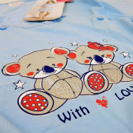 Camasa Gravide si Alaptat, 'With Love' Blue