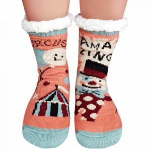Ciorapi Imblaniti si Caldurosi Lady-Line Model 'Circus Amazing' Multicolor