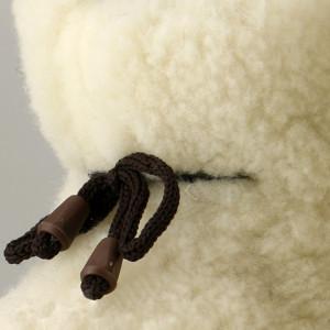 Cizme de Interior din Lana Naturala, Lady-Line, 'Capalna'