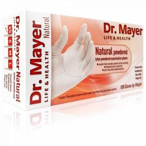 Manusi Examinare Pudrate Latex Natural Alb Dr. Mayer 100 Bucati