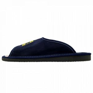 Papuci de Casa Barbati, Talpa Groasa, Culoare Albastru, Model 'King of the House'