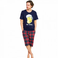 Pijama Barbati Gazzaz by Vienetta, 'Beer Season' Blue