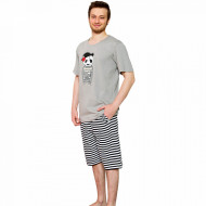Pijama Barbati Gazzaz by Vienetta, 'Let's be Pirates' Gray