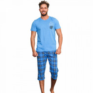 Pijama Barbati Gazzaz by Vienetta, 'Wild and Handsome' Blue