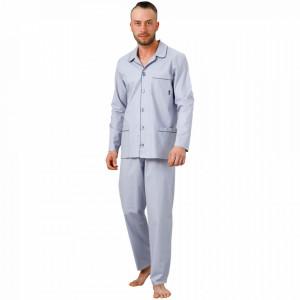 Pijama cu Nasturi Barbati M-Max Hotberg, Bumbac 100%, 'Discovery'