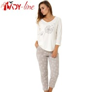 Pijama Dama Maneca/Pantalon Lung, 'Dreams Of Nature', M-M Nightwear