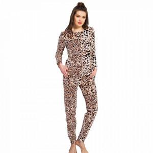 Pijama Dama Soft Velur Vienetta Model 'Feline'