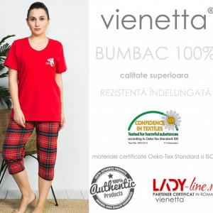 Pijama Dama Vienetta, Bumbac 100%, 'Coco Play'