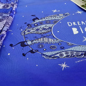 Pijama Dama Vienetta, Bumbac Interloc, 'Dream Big' Blue
