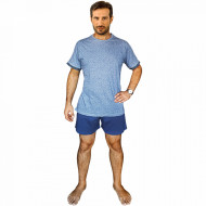 Pijamale Barbati Bumbac 100%, Brand Charachter, 'Gray Area' Blue Jeans