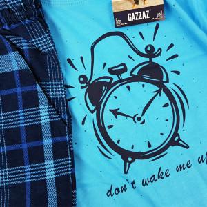 Pijamale Barbati Bumbac 100% Gazzaz by Vienetta 'Don't Wake Me Up'