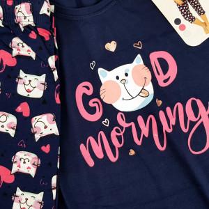 Pijamale Confortabile Marimi Mari Vienetta Model 'Good Morning' Blue