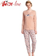 Pijamale Dama Bumbac 100%, 'Happy Winter', Vienetta Secret