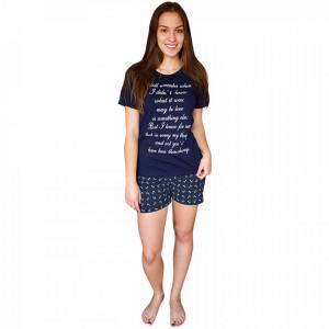 Pijamale Dama Bumbac, Character, Model Still Remember Blu Scuro