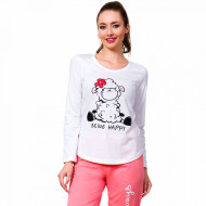 Pijamale Dama din Bumbac Vienetta Model 'Being Happy'