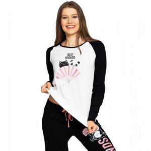 Pijamale Dama din Bumbac Vienetta Model 'Best Friends'
