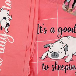 Pijamale Dama din Bumbac Vienetta Model 'It's a Good Day to Sleeping'