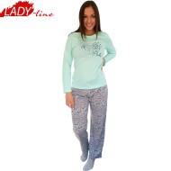 Pijamale Dama Maneca Lunga, Model Life Is Lovely, Producator Benter Fashion Wear, Bumbac 100%, Culoare Vernil