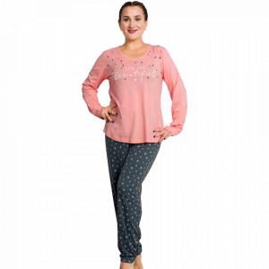 Pijamale Dama Marimi Mari Vienetta Model 'You are Beautiful' Pink