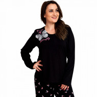 Pijamale Dama Marimi Mari Vienetta, 'You Are My Butterfly' Black