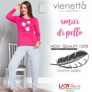 Pijamale Dama Vienetta Model 'Amici di Pello'