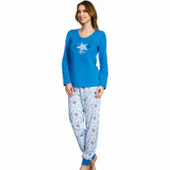 Pijamale Dama Vienetta, 'my Star' Blue