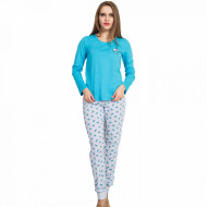 Pijamale Dama Vienetta, 'Smile, Fun & Happiness' Blue