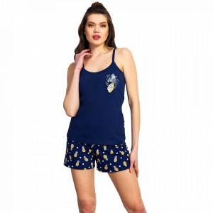 Pijamale Vienetta Dama, 'Love Joy Peace' Blue