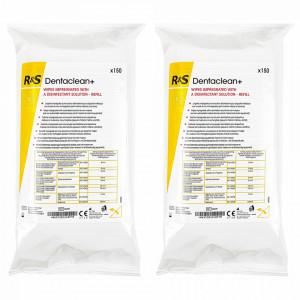Set 2 Pachete Rezerva Servetele Dezinfectante Suprafete Dentalclean+ R&S, 150 Buc x 2