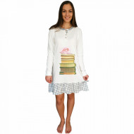 Nightwear Snelly L'Originale, 100% Cotton, 'Smart & Beauty' White