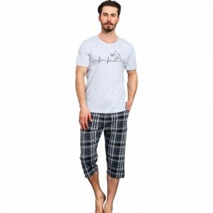Pijama Barbati Gazzaz by Vienetta, 'Fair Play' Gray
