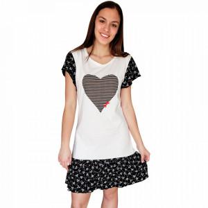 Camasa de Noapte Bumbac 100%, Brand Character, 'Nomad Love' Nero