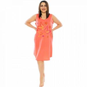 Camasa de Noapte din Bumbac Marimi Mari Vienetta Model 'Fly Away' Pink