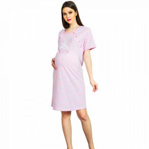 Camasa pentru Gravide si Alaptat Vienetta 'Cute Bunny' Pink