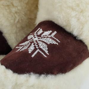 Cizme de Interior din Lana Naturala, Lady-Line, 'Gorali'