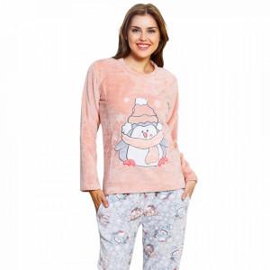 Compleu Dama Extra Pufos, Welsoft, Model 'Karina - Happy Penguin'