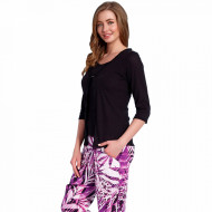 Compleu Pijama Dama din 3 Piese Vienetta Plus 'Spectrum'