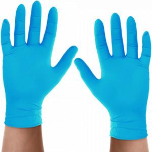 Manusi Nitril Nepudrate Vitality® Blue Touch Premium, Plic 20 Buc (10 Seturi)