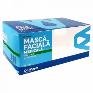 Masca Faciala Medicala cu 4 Straturi Dr. Mayer Green Edition, Cutie 50 Bucati