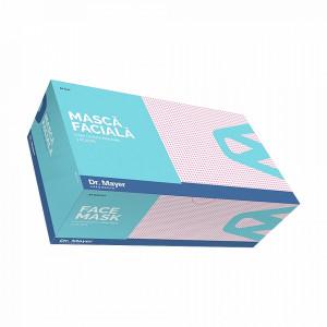Masca Medicala Dr. Mayer Pink Dots, Cutie 50 Bucati